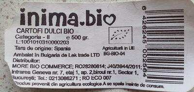Cartofi Dulci Bio - Product - en