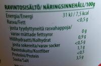 Myrttisen Valkosipuli-suolakurkut - Ravintosisältö - fi