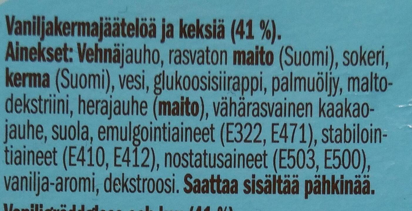 Puffet Vanilja - Ingredients - fi