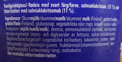 Tyrkisk Peber Gräddglass - Ingredients - sv