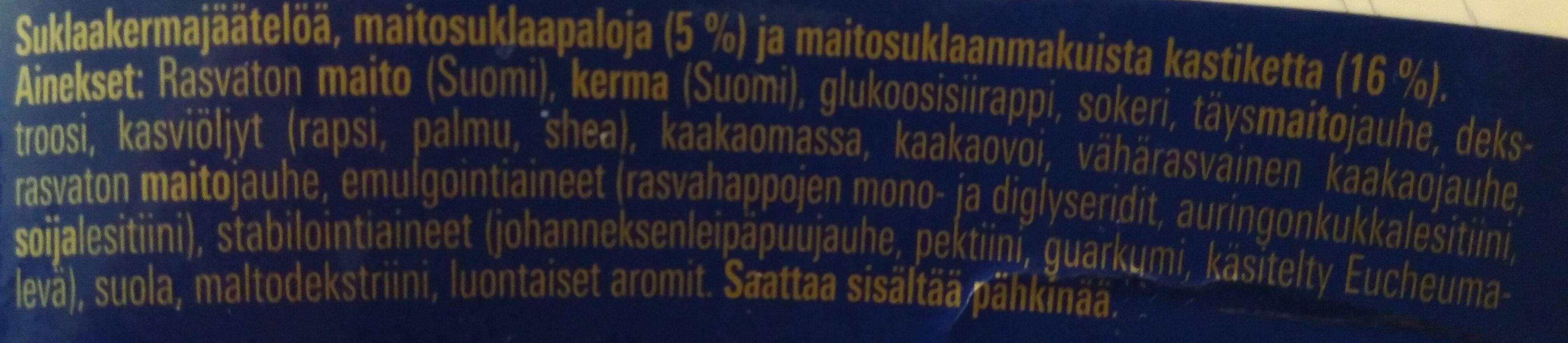 Premium Maitosuklaa - Ingredients - fi