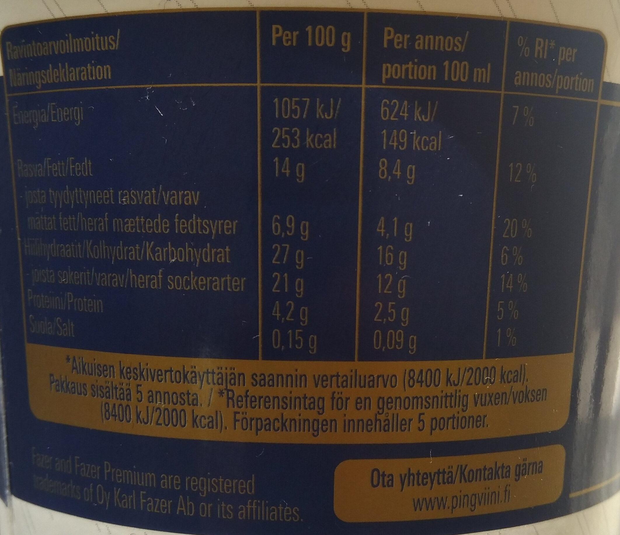 Premium Maitosuklaa - Nutrition facts - fi
