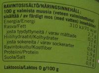 Perinteinen perunamuusi - Ravintosisältö - fi