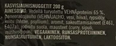 Kasvisjauhisnuggetit - Ingredients