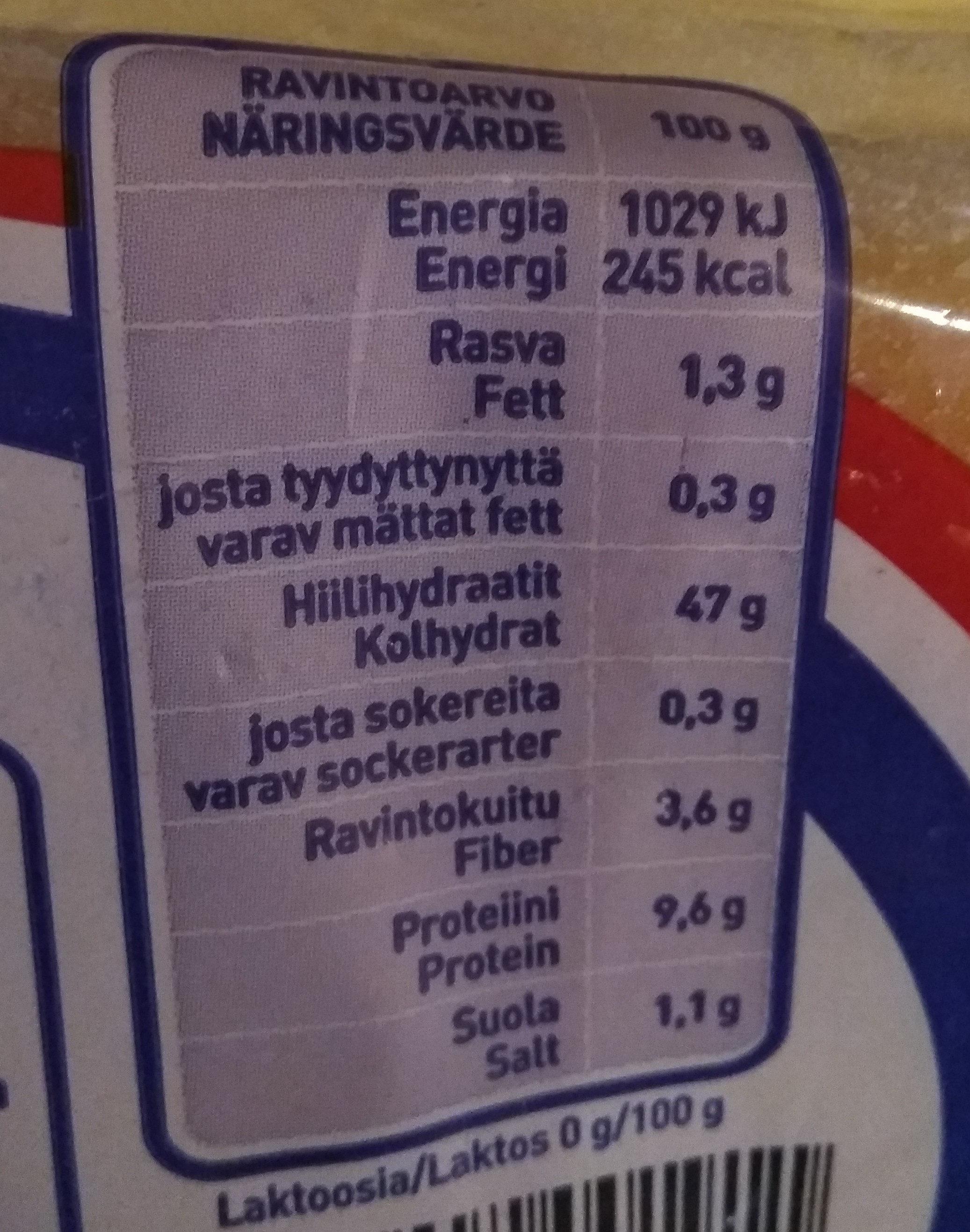Ranskanleipä - Informations nutritionnelles - fi