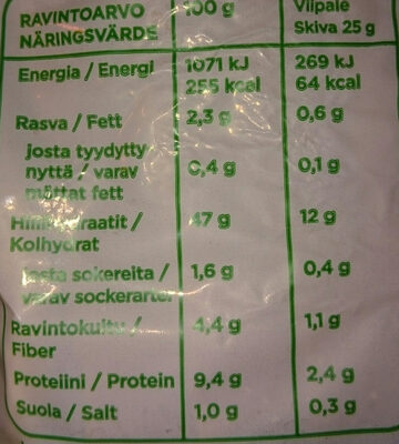iso paahto - Informations nutritionnelles - fi