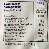 Taika Ruis 100% - Nutrition facts