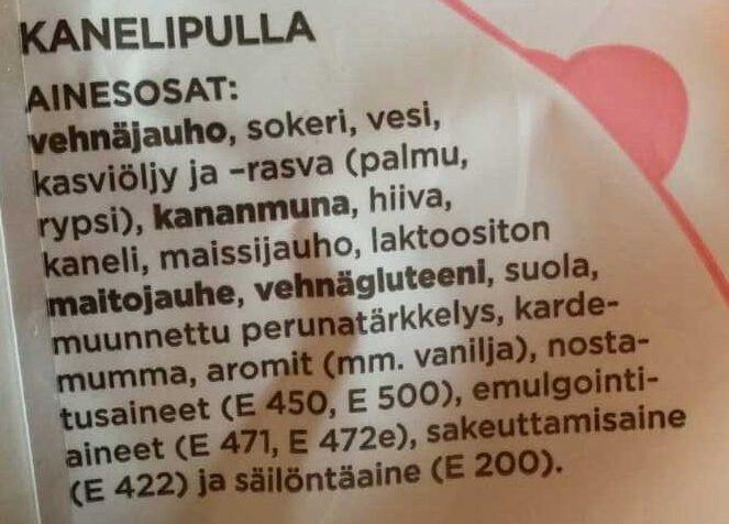 Ooh kaneli ystävänpuusti - Ingrédients - fi