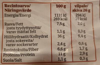 taika TUMMA ohut paahto - Informations nutritionnelles - fi