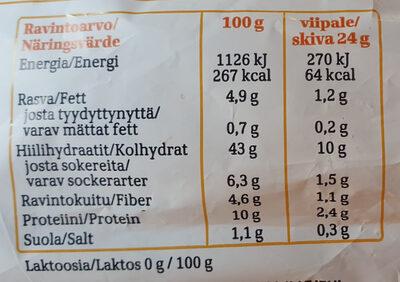 Taika Herkku Kaura Ohut Paahto - Informations nutritionnelles - fi