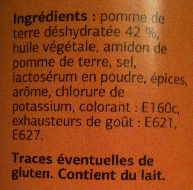 Tuiles Fromage - Ingrédients