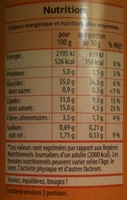 Tuiles Fromage - Informations nutritionnelles - fr