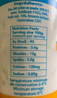Dolait - Informations nutritionnelles - fr