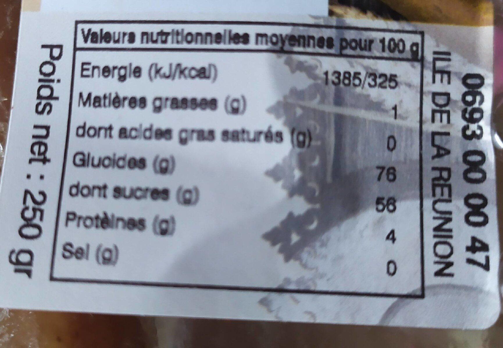 Napolitain - Informations nutritionnelles - fr