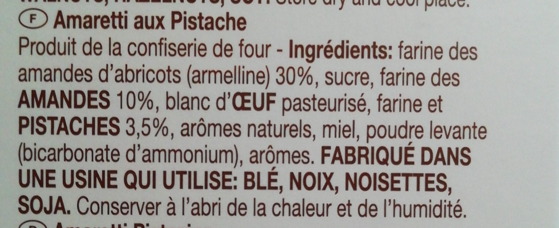 Amaretti d'Abruzzo morbidi al pistacchio - Ingredients - it
