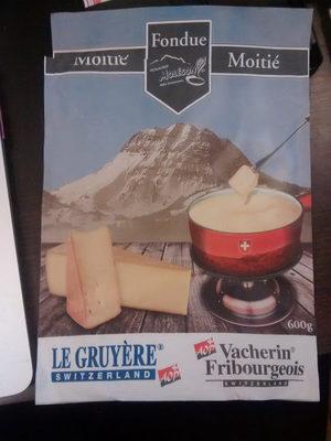 Fondue Moitié Moitié Gruyère Vacherin Fribourgeois - Product - fr