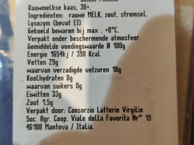 Grana Padano - Ingredients - nl