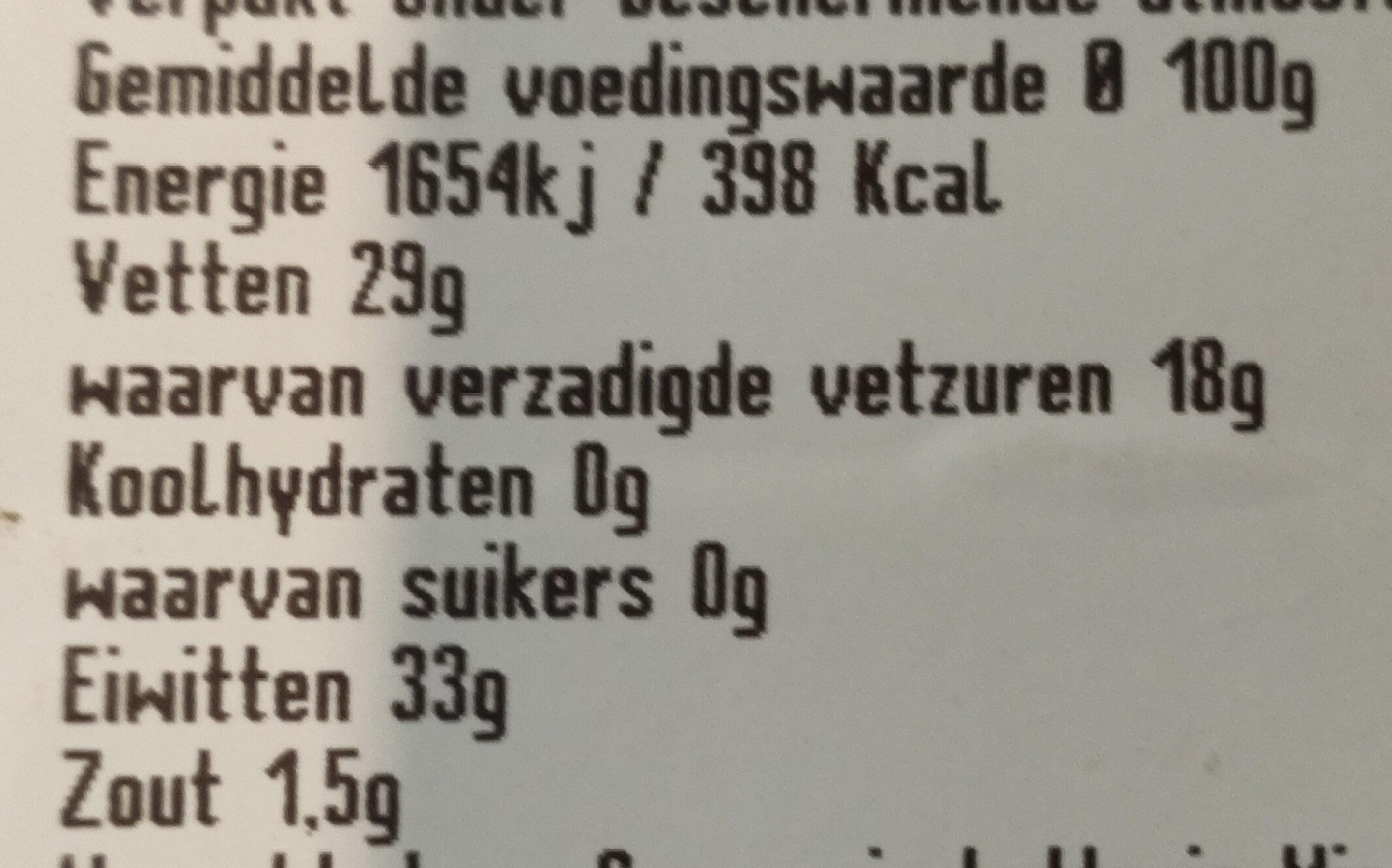 Grana Padano - Nutrition facts - nl