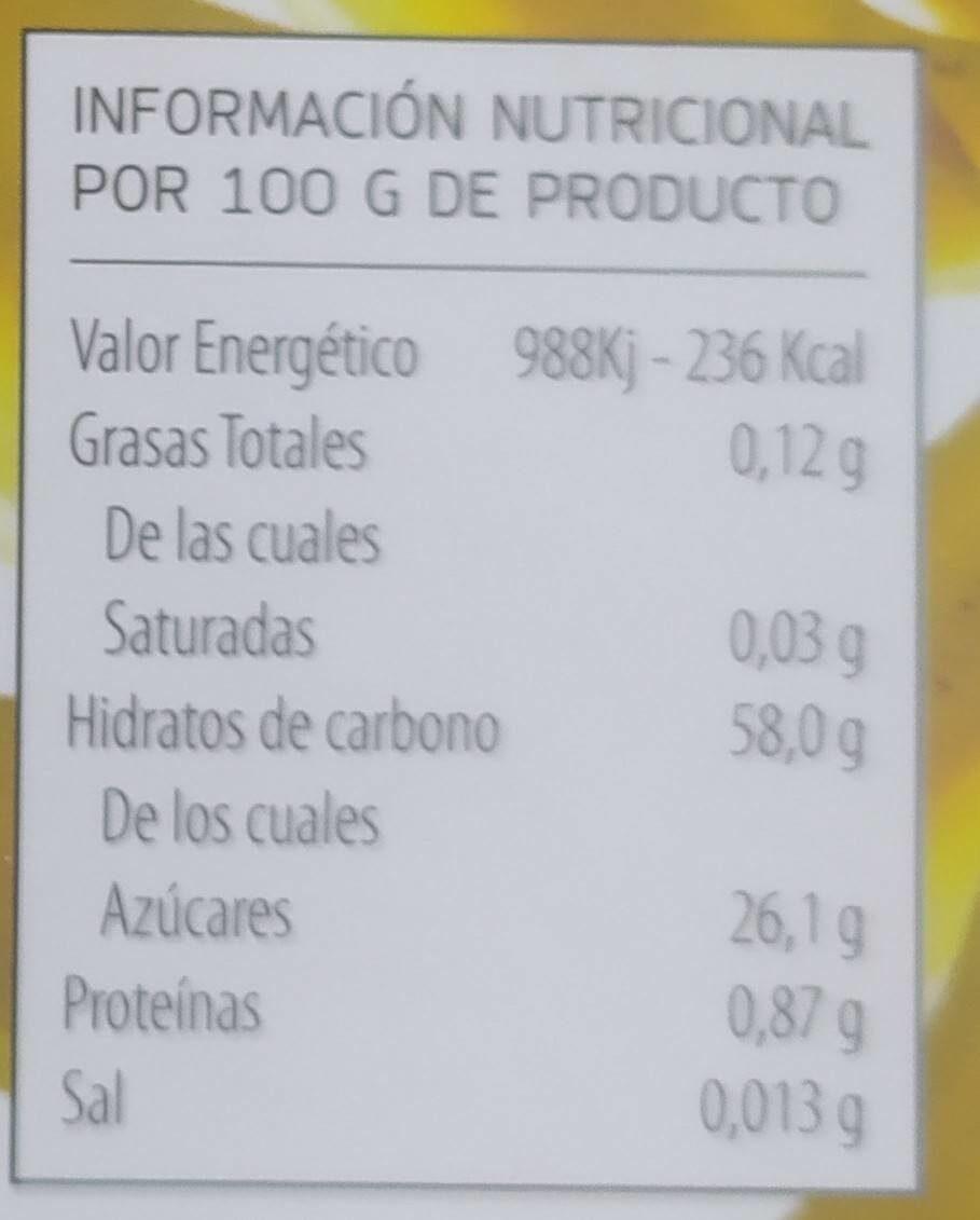 Dulce de plátano - Nutrition facts - es