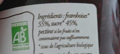 Confiture Extra Framboise - Ingrediënten - fr