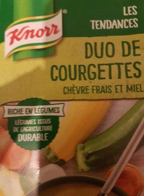 Duo de courgette chèvre miel - Product - fr
