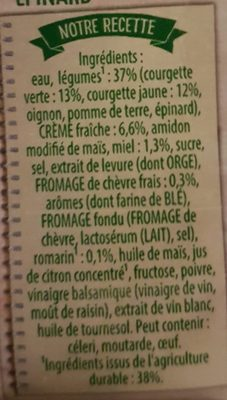 Duo de courgette chèvre miel - Ingrediënten - fr