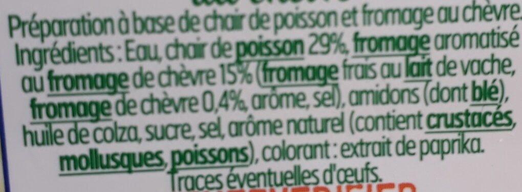 Surimi coeur de chèvre - Ingredienti - fr