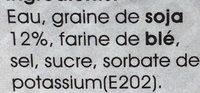 Sauce de Soja Claire - Ingredients - fr