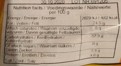 Roasted Pork Noodle - Nutrition facts - fr