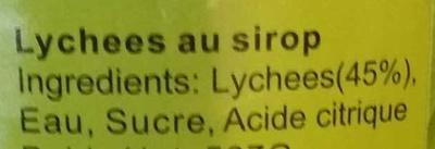 Lychees au sirop - Ingredienti - fr