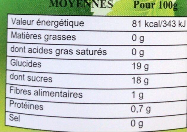 Lychees au sirop - Valori nutrizionali - fr