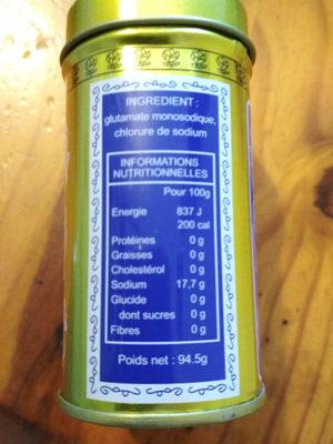 Ve Tsun - Informations nutritionnelles