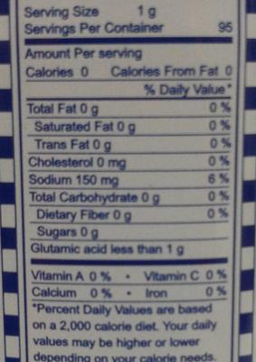 Gourmet Powder - Informations nutritionnelles - fr