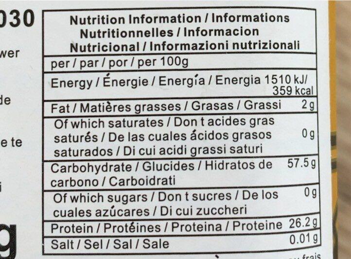 Jasmine tea - Nutrition facts - fr