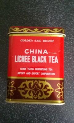 Thé noir litchi - Produit