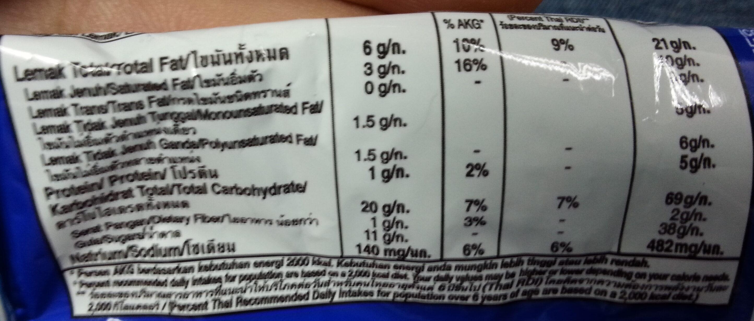 Oreo cookies - Voedingswaarden - en