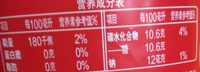 可口可乐汽水 - Nutrition facts