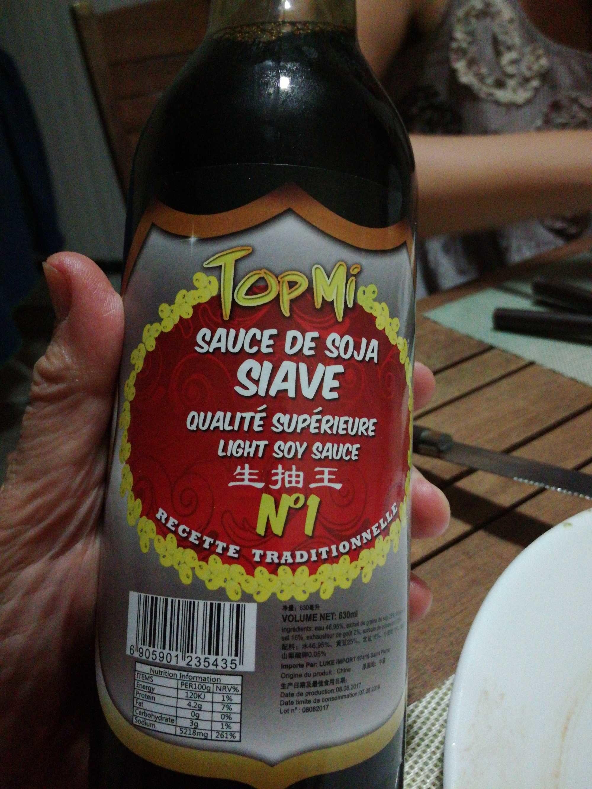 Sauce De Soja SIAVE - Prodotto - fr