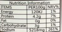 Sauce De Soja SIAVE - Valori nutrizionali - fr