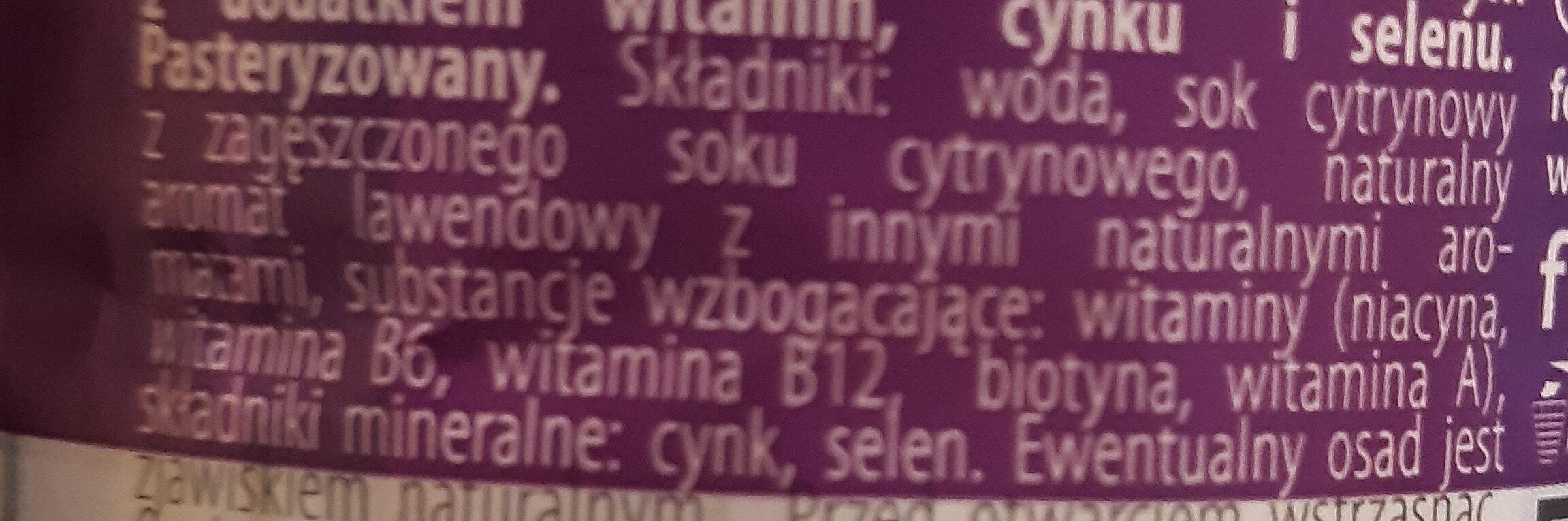 Oshee vitamin water beauty - Ingrédients - pl