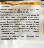 Nouilles poulet - Ingredients