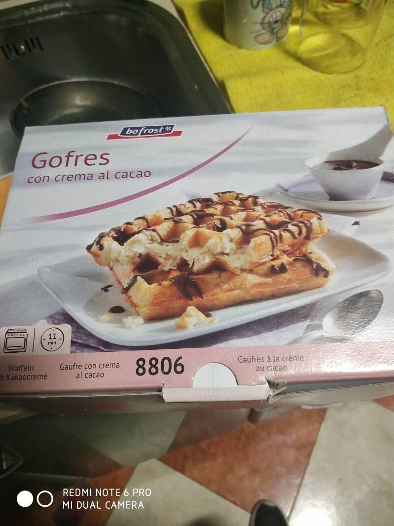 Gofres con crema al cacao - Product - fr