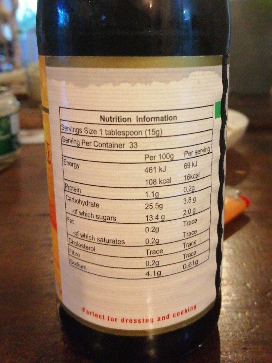 Golden Mark oyster sauce - Informations nutritionnelles - fr