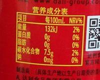 和其正 - Nutrition facts