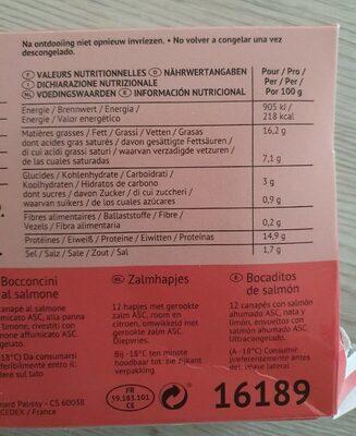 Bouchées au saumon - Valori nutrizionali - fr