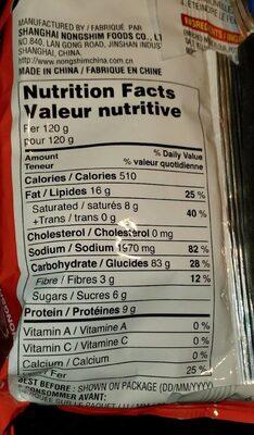 Udon - Nutrition facts - en