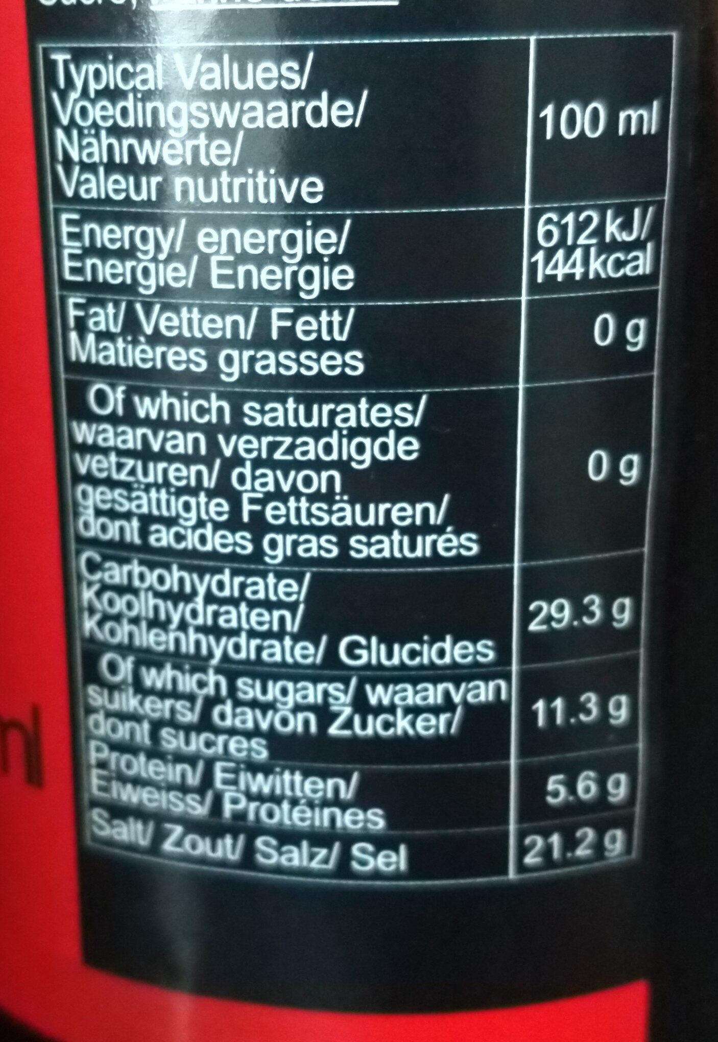 Dunkle Soja-Sauce, Superior - Nutrition facts - de