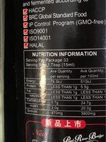 Sauce Soja Épaisse - Informations nutritionnelles