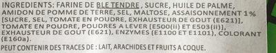 Sticks apéritifs saveur pizza - Ingredients - fr