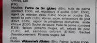 Nouilles Spicy Porc - Ingredients - fr